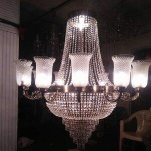 Crystal & Glass Chandelier